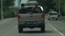 El Sal military in pickup