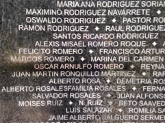 El Salvador Romero name on wall