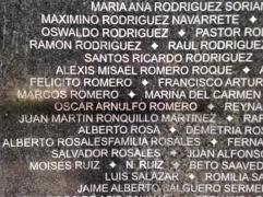 El Salvador Romero name on wall