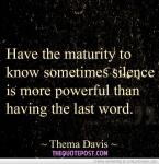 Having the Last Word